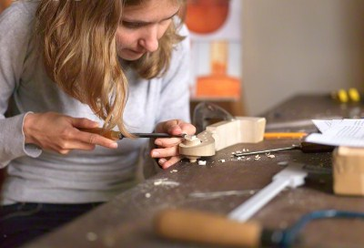 woman woodworking